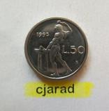 Moneda 50 Lire - Italia, 1995 *cod 895 a.UNC, Europa
