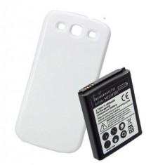 Baterie extinsa 4500mAh capac alb special pt Samsung Galaxy S3 i9300 + folie