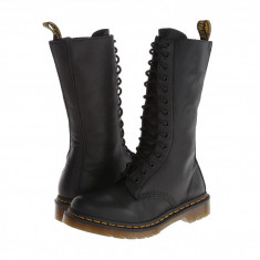 Dr. Martens 1B99 14-Eye Zip Boot | Produs 100% original, import SUA, 10 zile lucratoare - z11409 - Cizma dama Dr Martens, Piele naturala, Negru