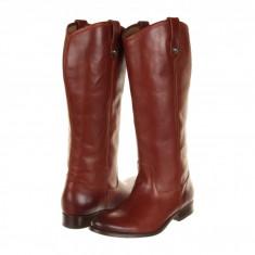 Frye Melissa Button Boot Extended | Produs 100% original, import SUA, 10 zile lucratoare - z11409 - Cizma dama Frye, Piele naturala, Coniac