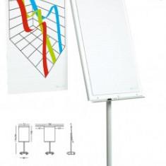 Flipchart magnetic, 105 x 70 cm, cu brate laterale, cu rotile, SMIT Vario - Flipchart Birotica