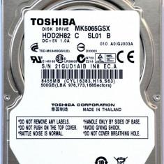 HDD Laptop Toshiba 500GB 5400RPM 8MB CACHE SATA2 MK5076GSX, 500-999 GB