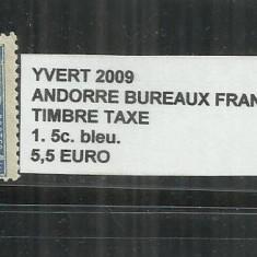 ANDORA 1931 - 32 BUREAUX FRANCAIS TIMBRE TAXE - 1. 5 C., Stampilat