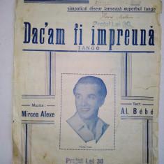 Partitura Tango Dac-am fi impreuna Muzica: Mircea Alexe