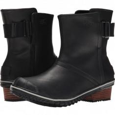 SOREL Slimboot™ Pull On | Produs 100% original, import SUA, 10 zile lucratoare - z11409 - Cizma dama Sorel, Piele naturala, Negru