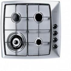 Plita incorporabila pe gaz Design Pure Gorenje - GMS 66 E, Argintiu, Numar arzatoare: 4
