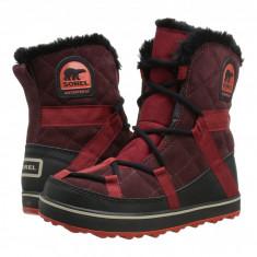 SOREL Glacy™ Explorer Shortie   Produs 100% original, import SUA, 10 zile lucratoare - z11409, Visiniu, Piele naturala