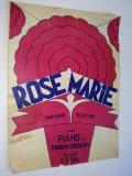 Partitura pentru pian si acordeon Rose Marie - Fantesie Selection