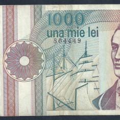 ROMANIA 1000 1.000 LEI 1991 [13] serie cu punct