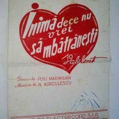 Partitura Vals - Inima de ce nu vrei sa imbatranesti -N. Kirculescu