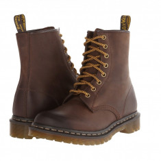Dr. Martens 1460 W 8-Eye Boot | Produs 100% original, import SUA, 10 zile lucratoare - z11409 - Gheata dama Dr Martens, Maro
