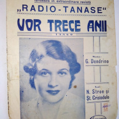 Partitura Tango - Vor Trece Anii Muzica : G. Dendrino