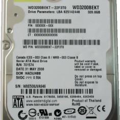 HDD Laptop Western Digital 320GB 7200RPM 16MB CACHE SATA2 WD3200BEKT Scorpio Black, 300-499 GB