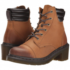 Dr. Martens Alexandra 6-Eye Padded Collar Boot | Produs 100% original, import SUA, 10 zile lucratoare - z11409 - Gheata dama Dr Martens, Maro