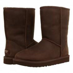 UGG Classic Short Leather | Produs 100% original, import SUA, 10 zile lucratoare - z11409 - Cizma dama Ugg, Piele naturala, Maro
