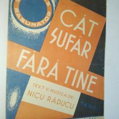 Partitura Tango Cat sufar fara tine Muzica: Nicu Raducu
