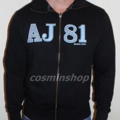 Bluza ARMANI JEANS - Model cu Fermoar - Negru / Gri - NOUA COLECTIE !!! - Bluza barbati, Marime: XL, XXL, Bumbac
