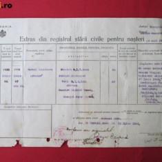 Document vechi, Extras din registrul starii civile perioada interbelica - copie - Diploma/Certificat