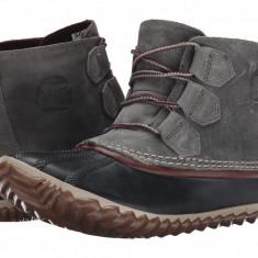 SOREL Out 'N About™ Leather | Produs 100% original, import SUA, 10 zile lucratoare - z11409 - Gheata dama Sorel, Piele naturala, Gri