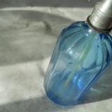 Sticla de sifon albastra, OITUZ BUCURESTI din anii puterii populare