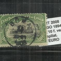 CONGO 1894 - 1900 - 29A. 10 F., Stampilat