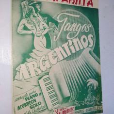 Partitura pentru pian si acordeon - CUMPABSITA - TANGOS ARGENTINOS - 1945
