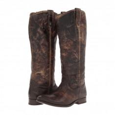 Frye Melissa Button Boot Extended   Produs 100% original, import SUA, 10 zile lucratoare - z11409 - Cizma dama Frye, Piele naturala, Maro
