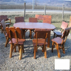 Masa ovala cu 8 scaune Gardenland - MSE 004 - Masa gradina