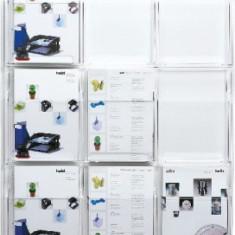 Display pentru pliante, de perete, 9 x A4, HELIT - transparent - Calendar