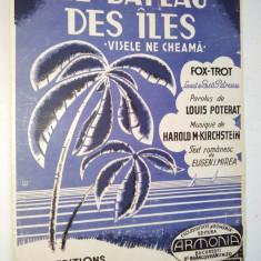 Partitura Fox-Trot Le Bateau des Iles- Visele ne chiama