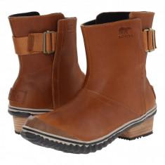 SOREL Slimboot™ Pull On | Produs 100% original, import SUA, 10 zile lucratoare - z11409 - Gheata dama Sorel, Piele naturala, Coniac