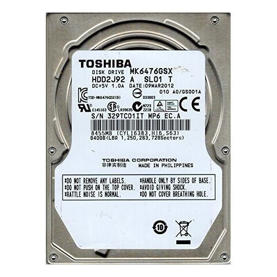 HDD Laptop Toshiba 640GB 5400RPM 8MB CACHE SATA3 MK6476GSX foto mare