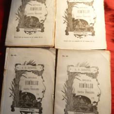 A.D.Xenopol - Istoria Romanilor din Dacia Traiana vol.4, 5, 6 si 9 - Ed. 1896 - Carte Istorie
