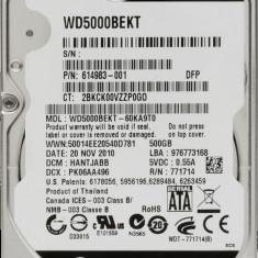 HDD Laptop Western Digital 500GB 7200RPM 16MB CACHE SATA2 WD5000BEKT Scorpio Black, 500-999 GB