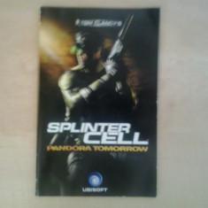 Manual - Tom Clancy's Splinter Cell Pandora Tomorrow - PS2 ( GameLand )