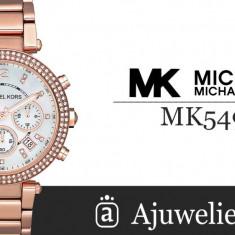 Ceas dama Michael Kors Parker Chronograph Rose Gold-tone MK5491, Casual, Quartz, Inox, Cronograf