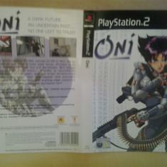 Coperta - Oni - Playstation PS2 ( GameLand )