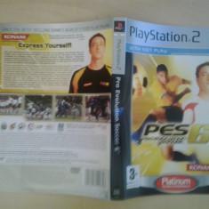 Coperta - Pro Evolution Soccer 6 PLATINUM- Playstation PS2 ( GameLand )