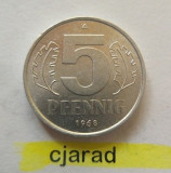 Moneda 5 Pfennig - RD Germana 1968 *cod 951