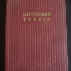 DICTIONAR TEHNIC 1953
