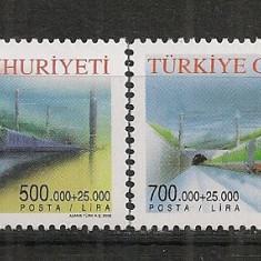 Turcia.2002 Locomotive ST.524 - Timbre straine, Nestampilat