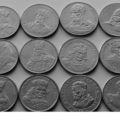 Lot 12 monede comemorative Polonia -Polish Kings