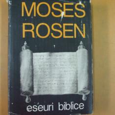 Moses Rosen Eseuri biblice Bucuresti 1992 - Carti Iudaism