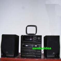 COMBINA AUDIO JVC ORIGINALA -full digital cu telecomanda, boxe- ca noua!, Clasice, 81-120 W