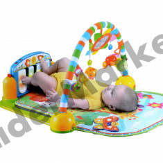 Patura de joaca pentru bebelusi, cu pian si zornaitoare - Jucarie interactiva