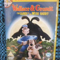 WALLACE & GROMIT. THE CURSE OF THE WERE RABBIT (2 DVD-uri originale, CA NOI!!!) - Film animatie dream works, Engleza