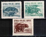 Albania 1961, Mi #627-629**, fauna, bursuc, urs, MNH, superbe, cota Michel 30 €!, Natura, Nestampilat