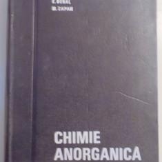 CHIMIE ANORGANICA, EDITIA A 3-A-E.BERAL, M.ZAPAN, BUC.1968 - Carte Chimie