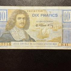 Africa Ecuatoriala Franceza 10 Francs 1947 ND P#21 - bancnota africa