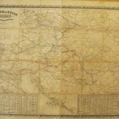 Marsch und Reise - Karte des Osterreichischen Keiserstaates, 1860 - Harta